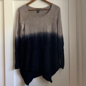 Chelsea & Theodore Asymmetrical Ombre Sweater, M
